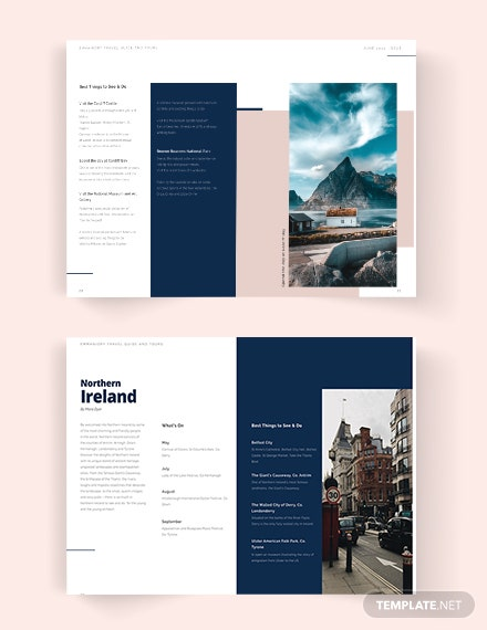 Travel Guide catalog Template