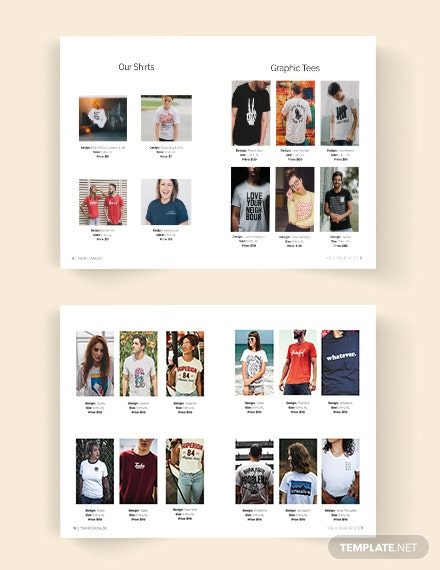 Editable TShirt Catalog