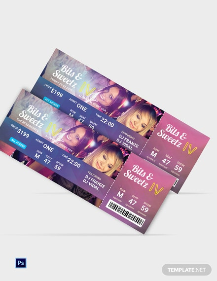 Free Disco Party Ticket Template