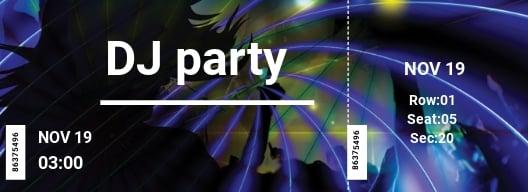Free DJ Party Ticket Template.jpe