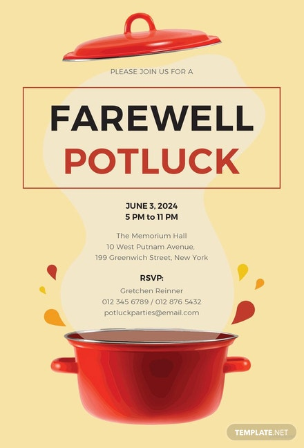 Free farewell potluck invitation template download 344 invitations free farewell potluck invitation template free farewell potluck invitation template thecheapjerseys Image collections
