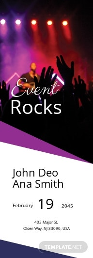 Free Rock Party Ticket Template