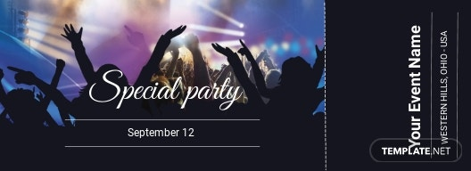 Special Party Ticket Template