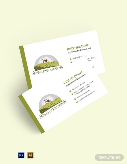 Farming Business Card Template