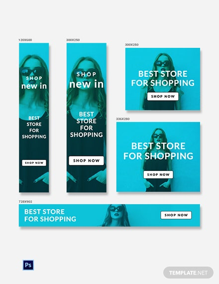 Free Shopping Ad Banner Template