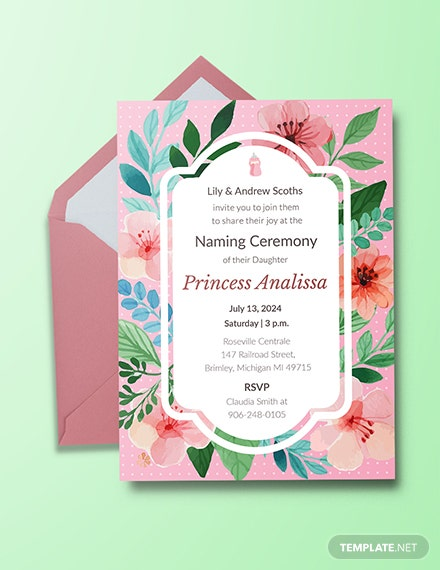 Free invitation templates download ready made template free baby girl naming ceremony invitation template stopboris Choice Image