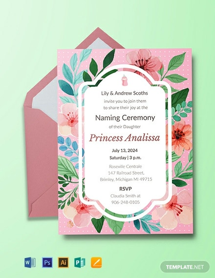 Free Cafe Opening Ceremony Invitation Template Download 615