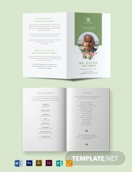 Creative Eulogy Funeral Bi-Fold Brochure Template