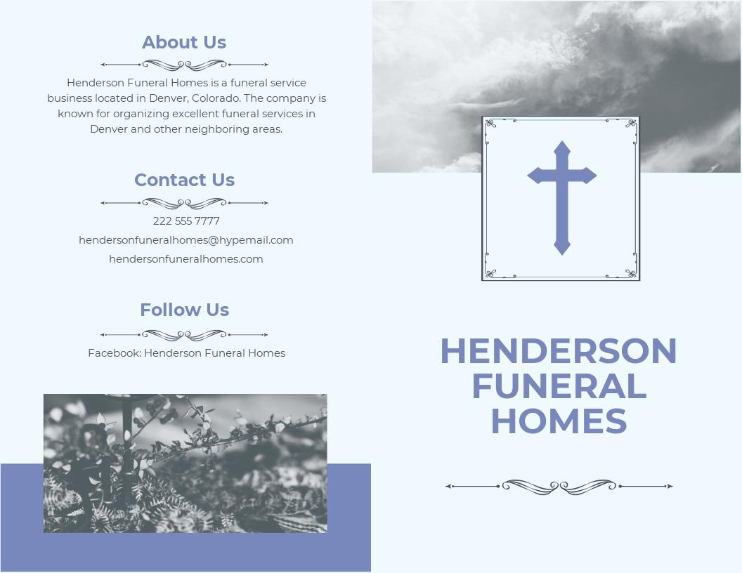 Editable Funeral Plan Bi Fold Brochure Template.jpe