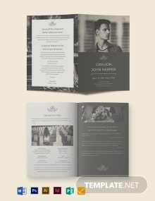 Father/ Dad Eulogy Funeral Bi-Fold Brochure Template