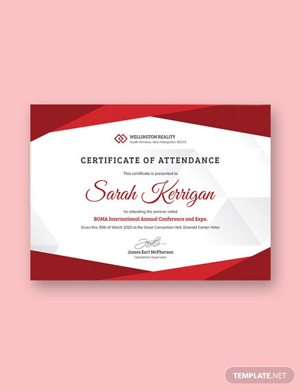 Free Conference Attendance Certificate Template Download 200