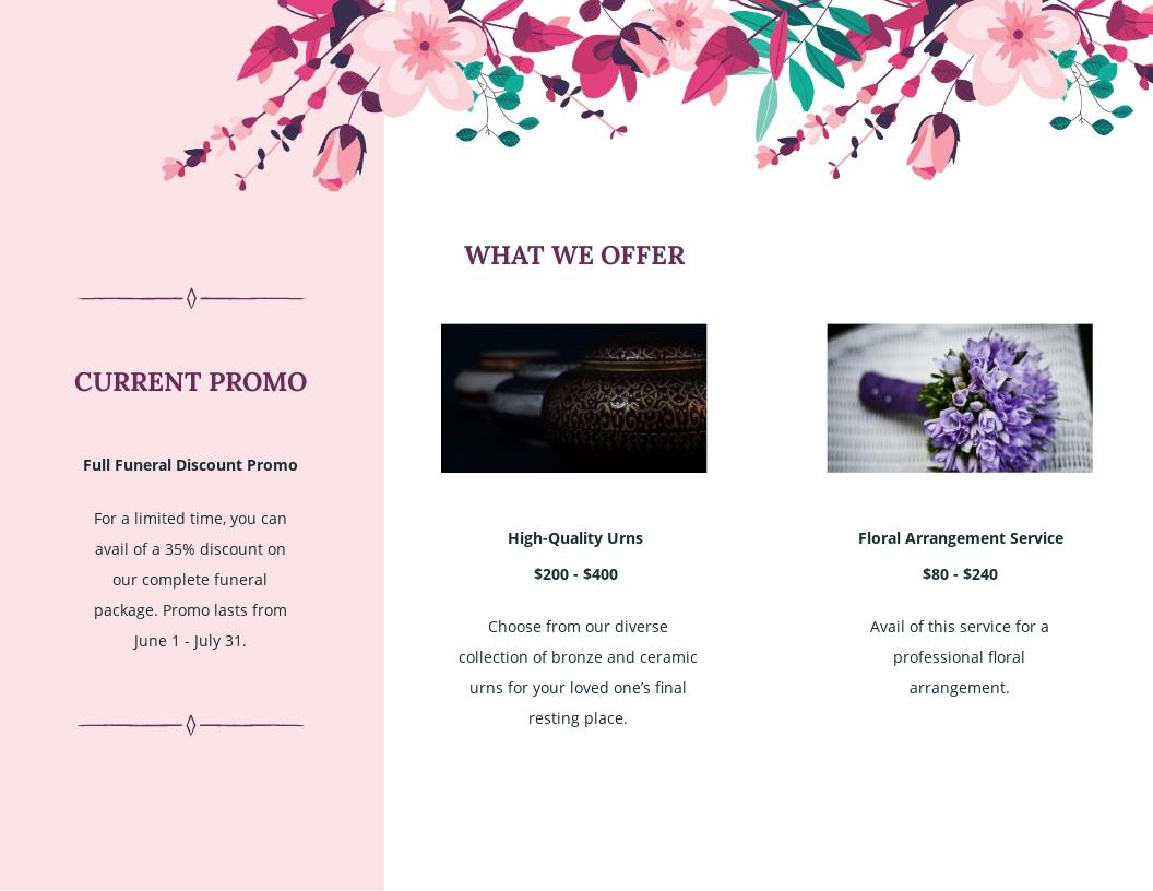 Floral Funeral Memorial Tri Fold Brochure Template 1.jpe
