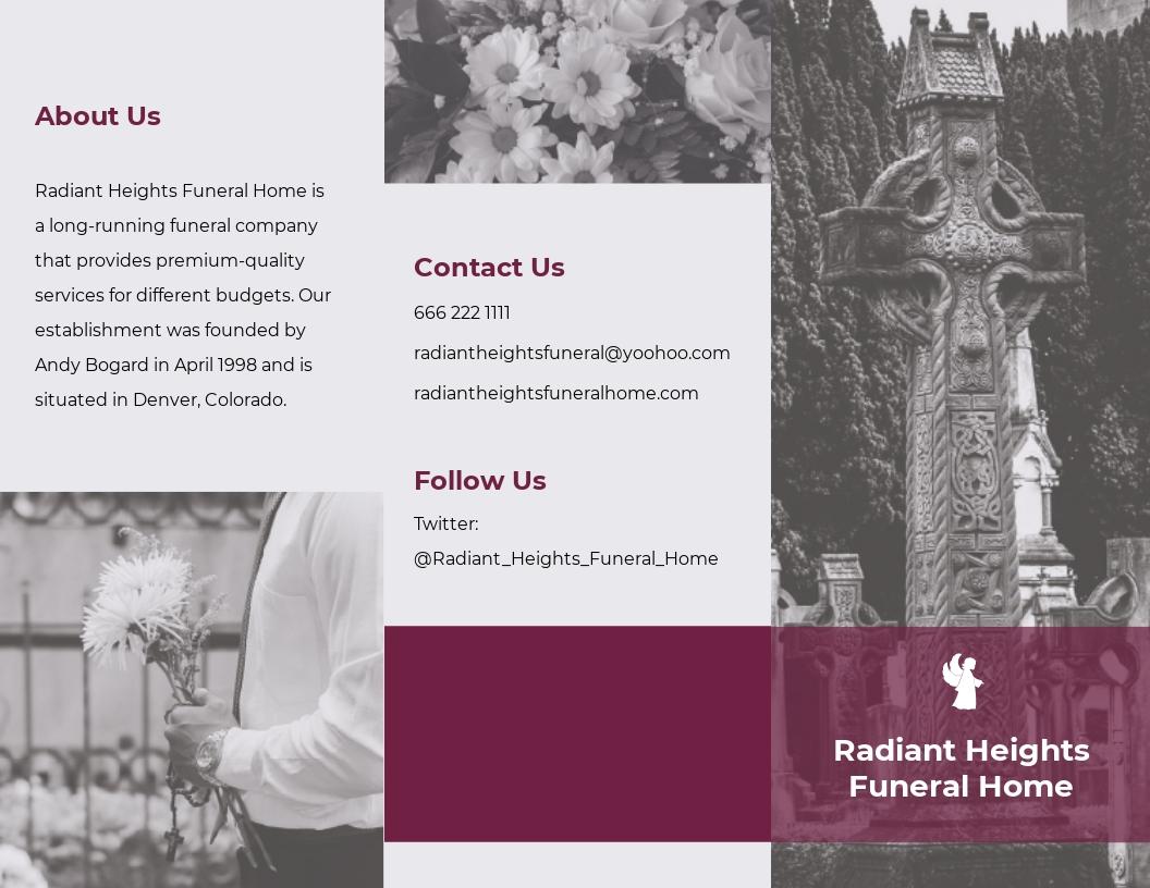 Floral Funeral Service Tri Fold Brochure Template.jpe