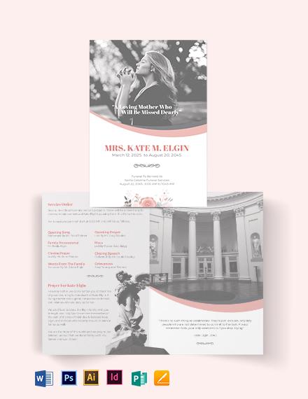 Funeral Director Bi-Fold Brochure Template