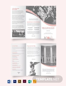 Funeral Director Tri-Fold Brochure Template