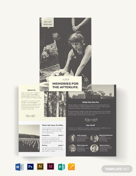 Funeral Home Business Bi-Fold Brochure Template