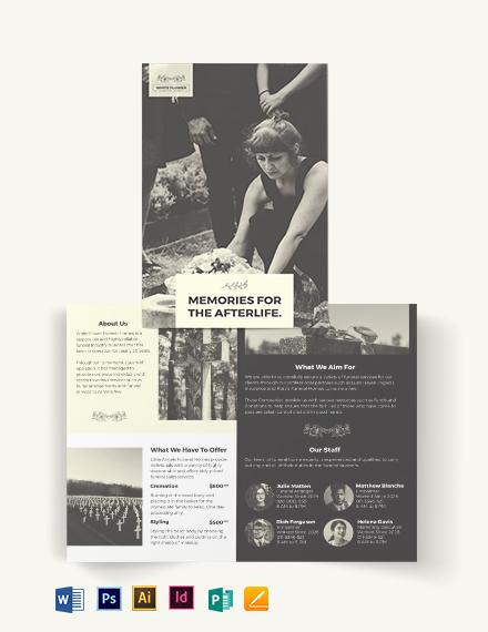 Funeral Home Business Bi-Fold Brochure Template