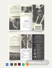 Funeral Home Business Tri-Fold Brochure Template