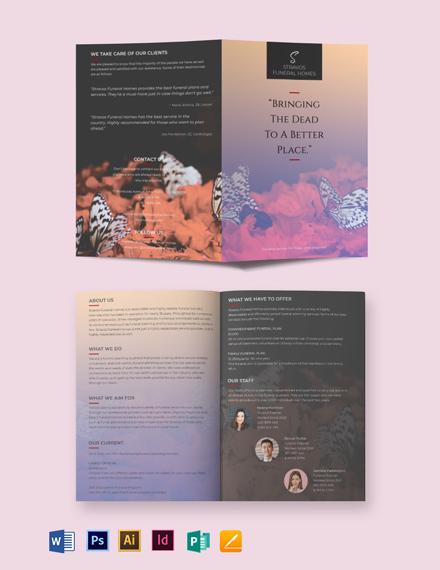 Funeral Pre Planning Bi-Fold Brochure Template