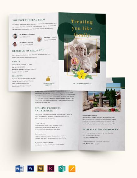 Funeral Services Bi-Fold Brochure Template