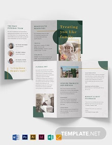 Funeral Services Tri-Fold Brochure Template