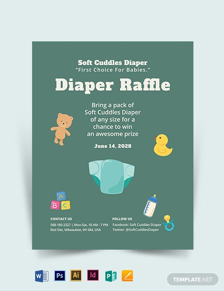 Diaper Raffle Flyer Template