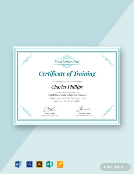 19  free training certificate templates