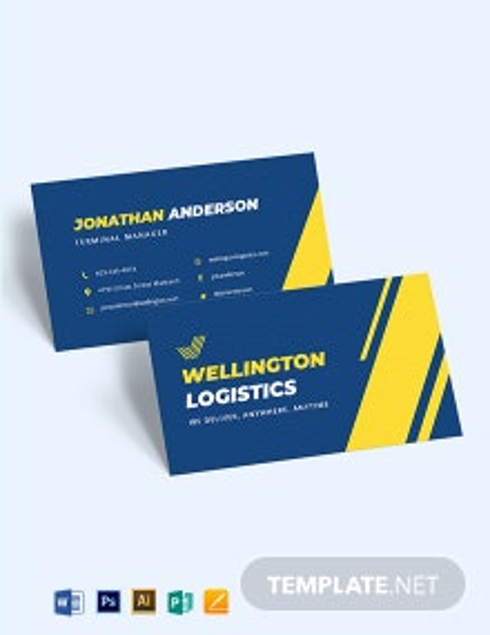 Logistics Business Card Template