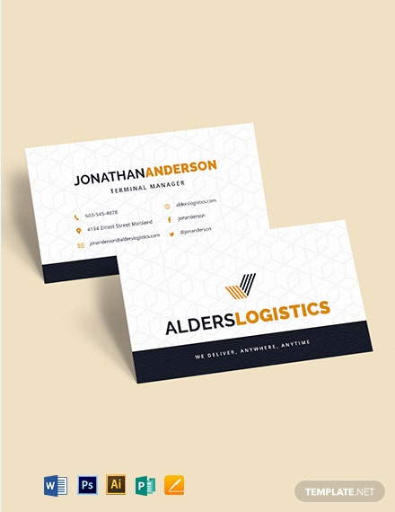 Logistics Company Business Card Template