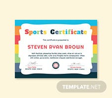 Free running award certificate template in adobe photoshop free kids sports award certificate template yelopaper Image collections