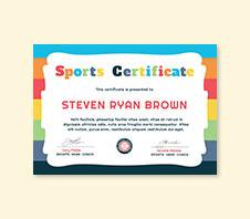 Free Kids Sports Award Certificate Template