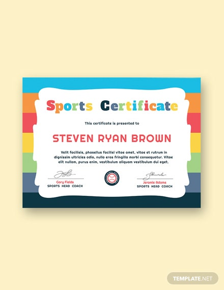 7 Free Sports Certificate Templates Download Ready Made