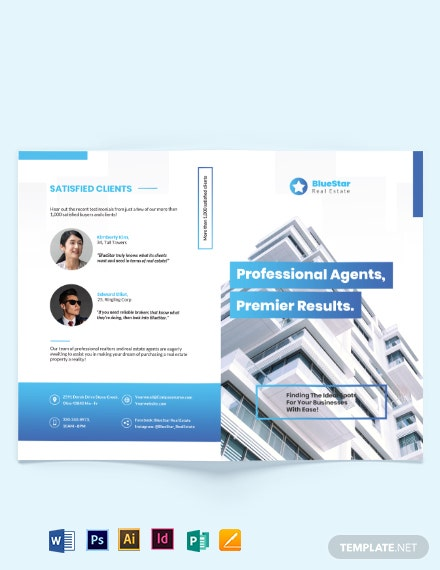 Commercial Real Estate Broker Bi-Fold Brochure Template