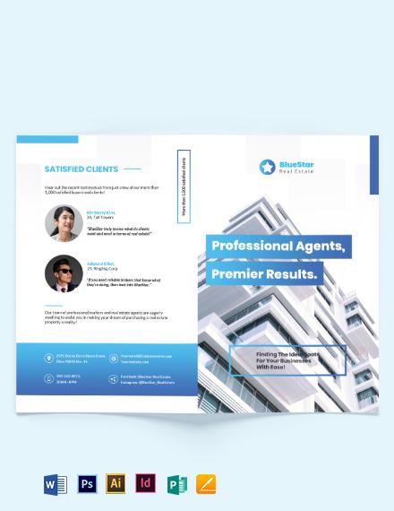 Commercial RealEstate Broker BiFold Brochure Template