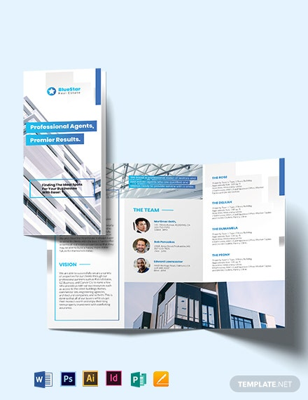Commercial Real Estate Broker Tri-Fold Brochure Template