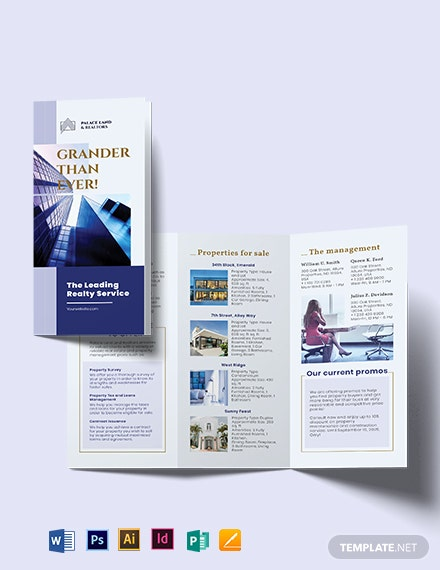 Luxury Property Realtor Tri-Fold Brochure Template
