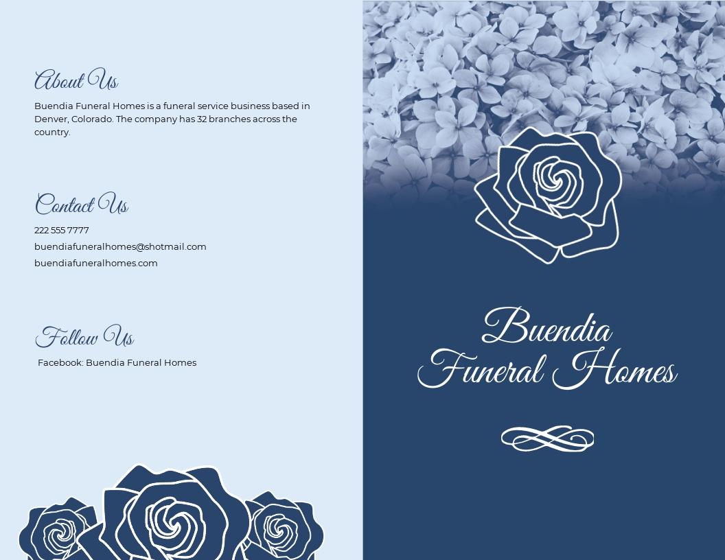 Printable Loving Memory Funeral Bi Fold Brochure Template.jpe