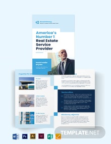 Licenced Real Estate Broker Agent/Agency Bi-Fold Brochure Template