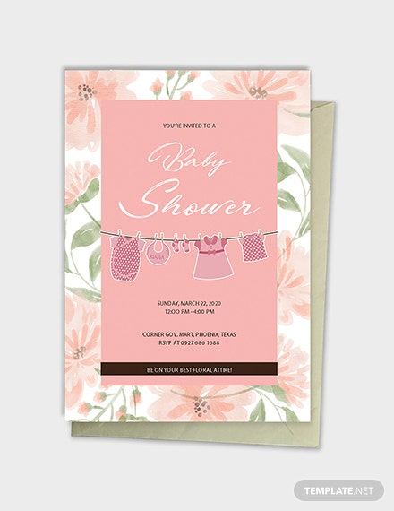 floral baby shower template 1