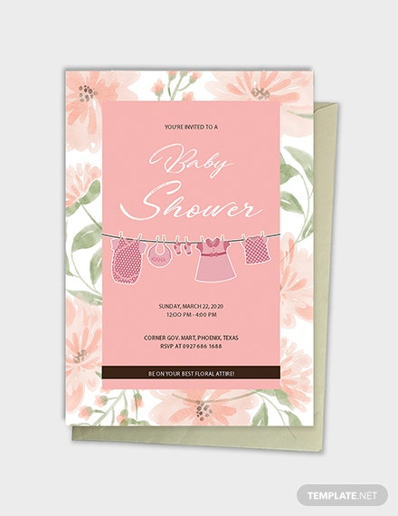 floral baby shower template  download 344  invitations in