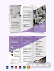 Real Estate Agent/ Agency Promotional Tri-Fold Brochure Template