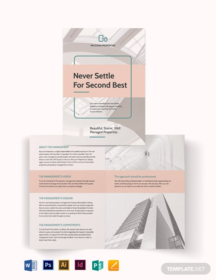 Property Management Bi-Fold Brochure Template