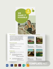 Farm Ranch Sale Bi-Fold Brochure Template