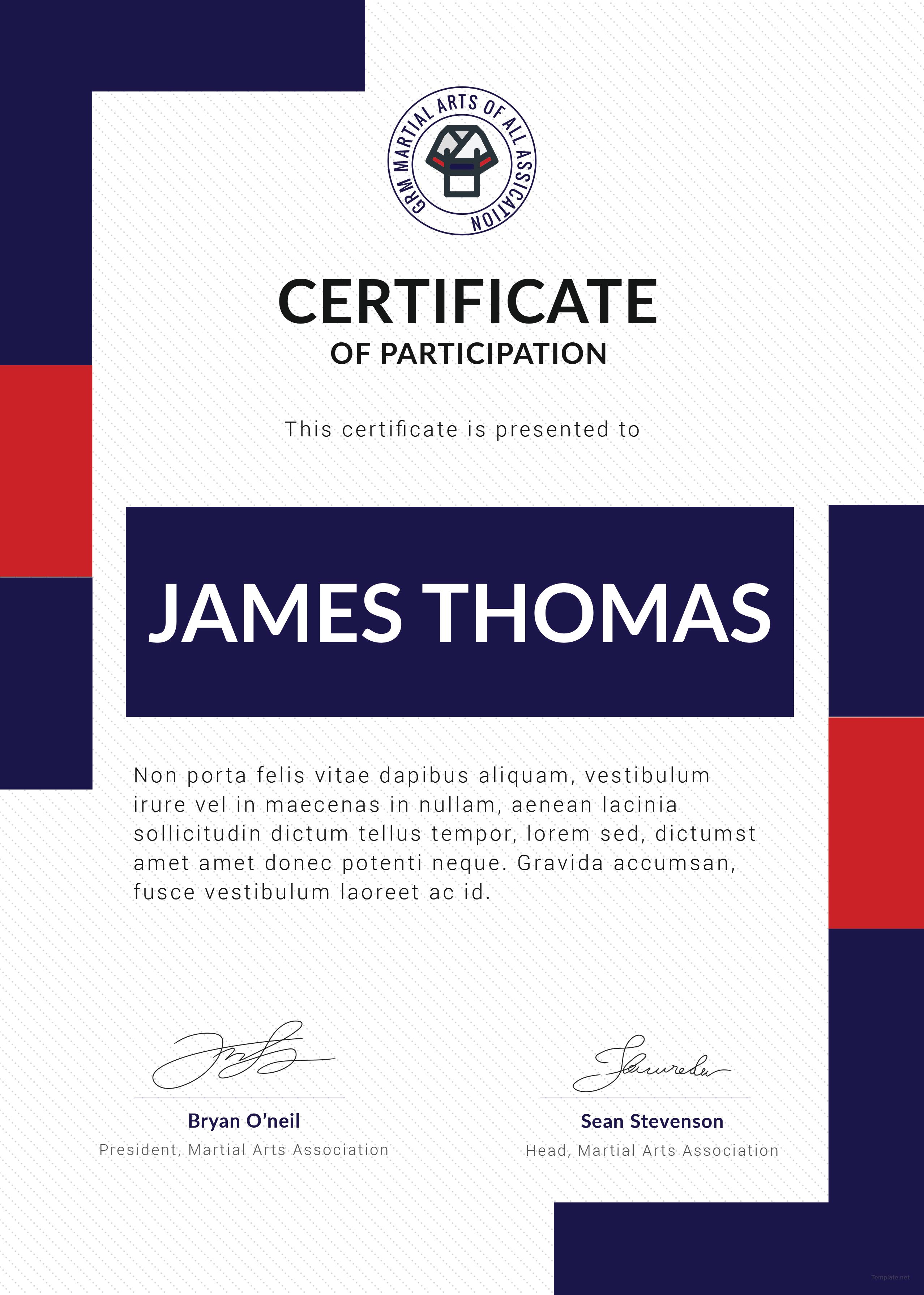 martial arts event winner certificate template free dinocro info