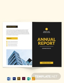 Administrative Annual Report Bi-Fold Brochure Template