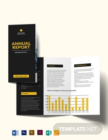 Administrative Annual Report Tri-Fold Brochure template