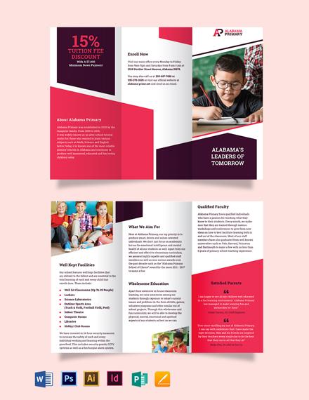 Alabama Primary Tri-Fold Brochure Template