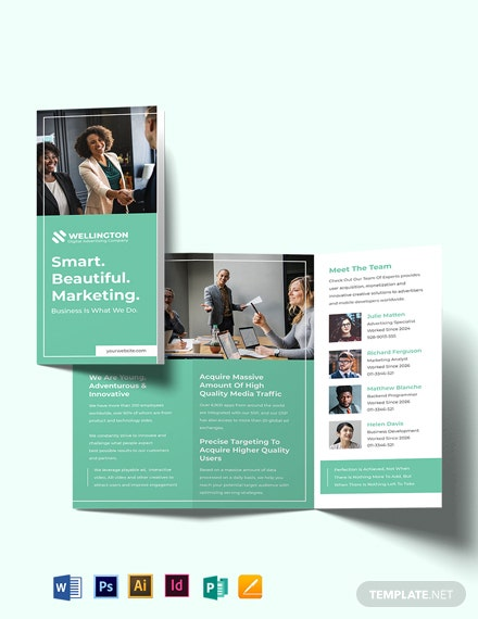 Modern Advertising Company Tri-Fold Brochure Template