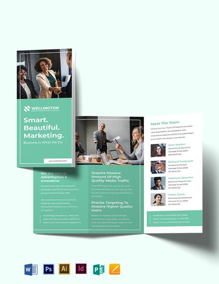 Modern Advertising Company Tri-Fold Brochure Template