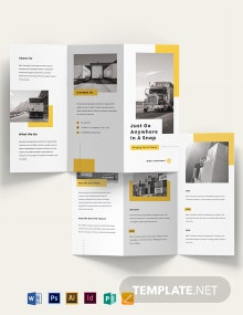 Automotive and Transportation Tri-Fold Brochure Template